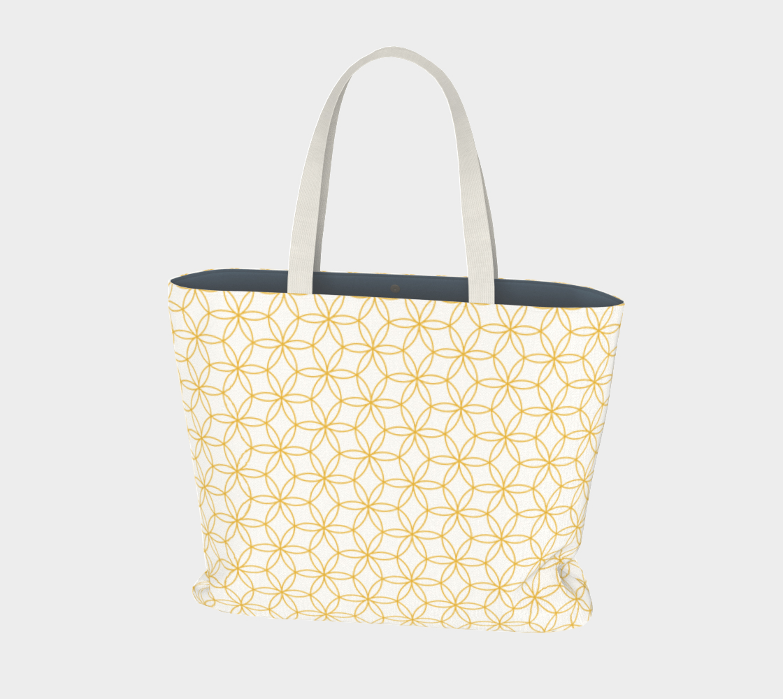 Flower of life pattern gold on white preview
