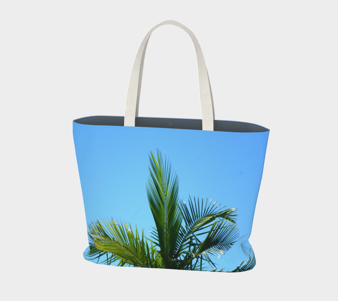 Blue Sky with Palm Leaves preview