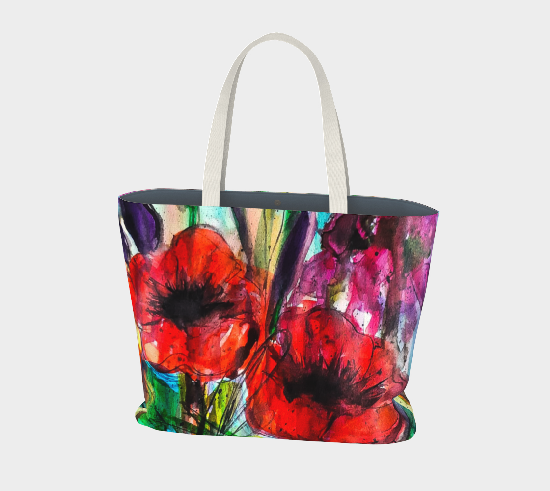 Aperçu de Vibrant Garden Large Tote Bag