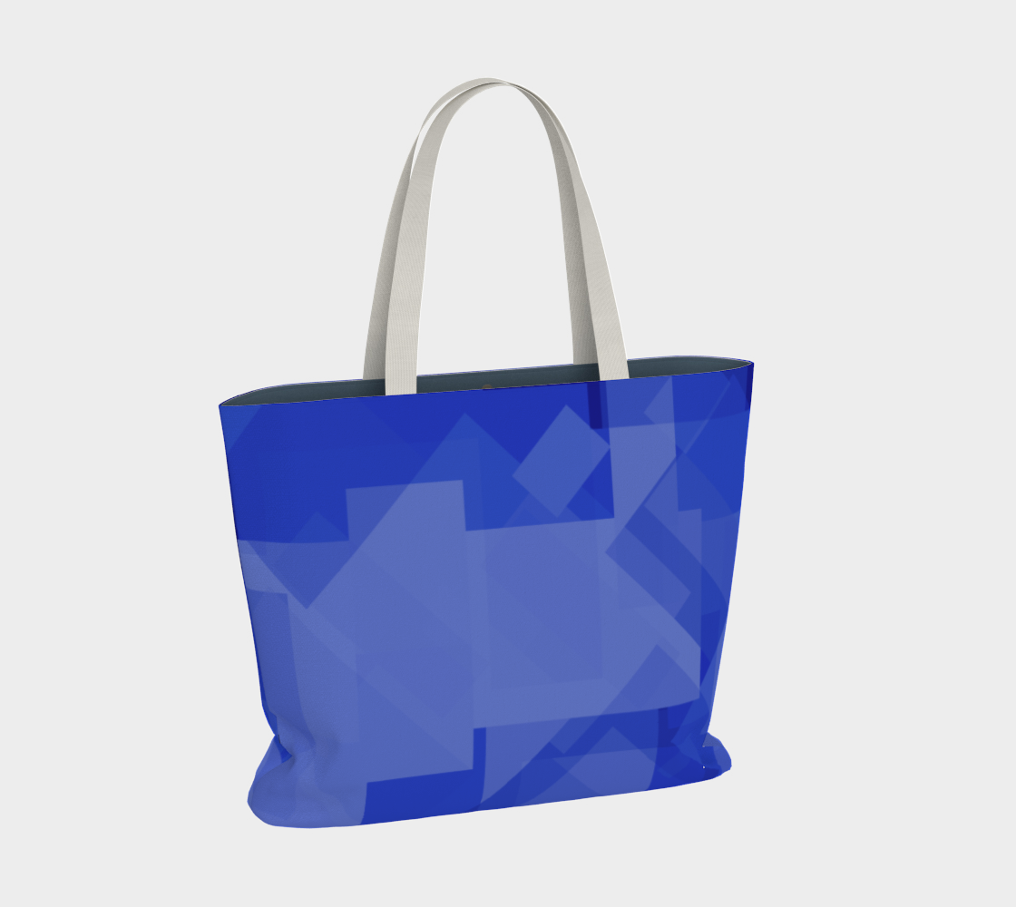Blue is Better Large Tote Bag preview #2