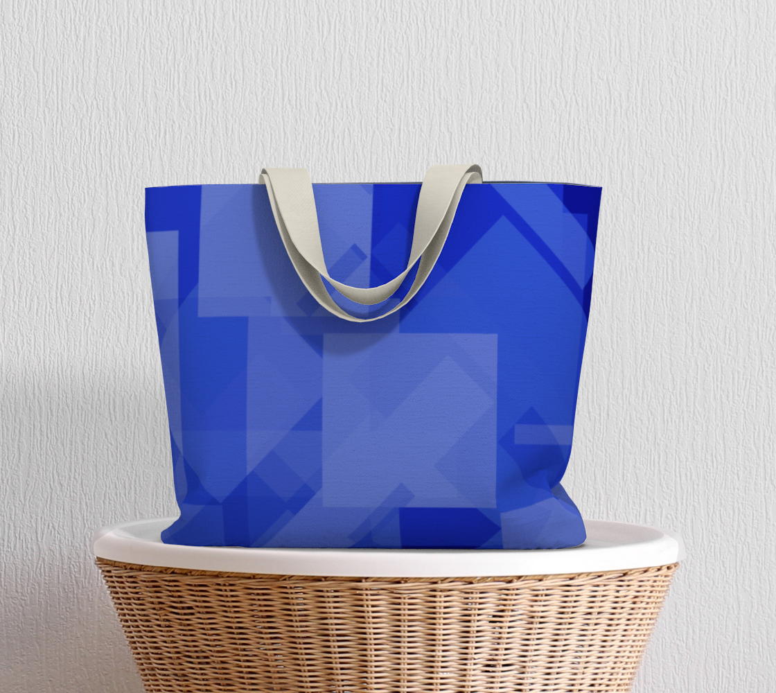 Blue is Better Large Tote Bag preview #5