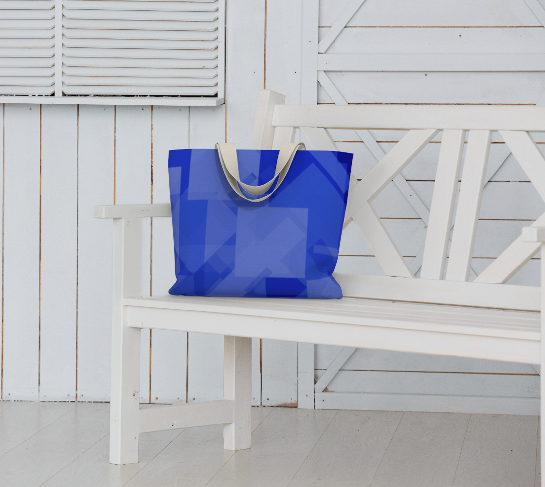Blue is Better Large Tote Bag preview #6