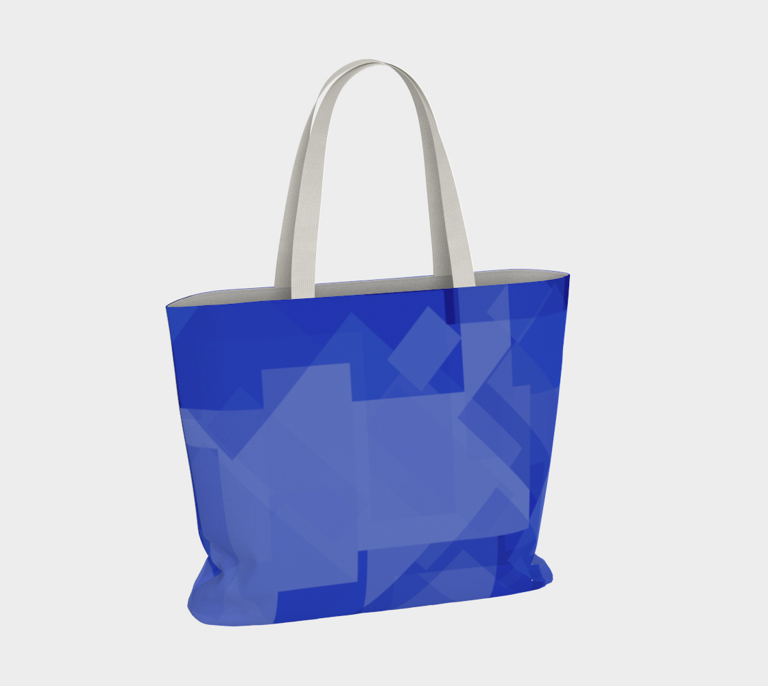 Blue is Better Large Tote Bag preview #4