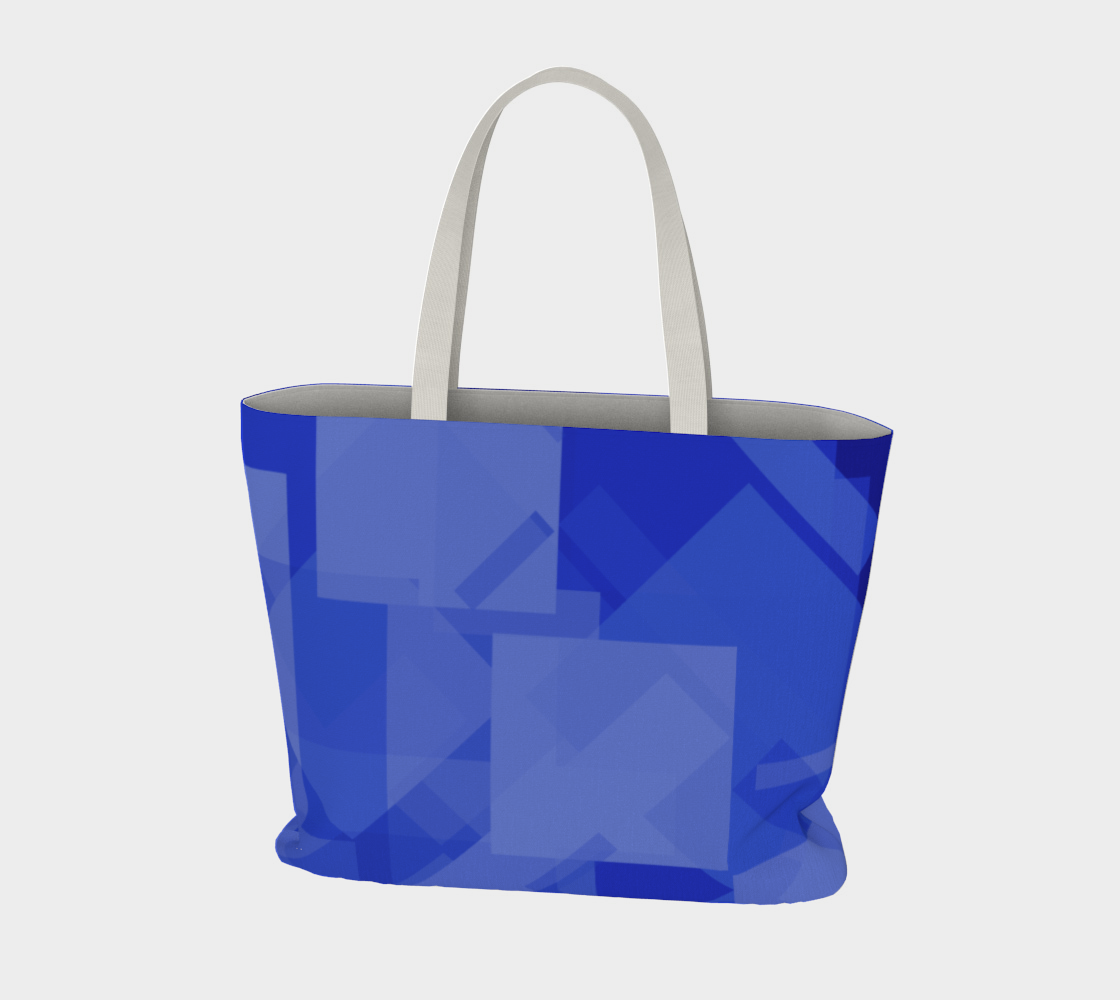 Blue is Better Large Tote Bag preview #3