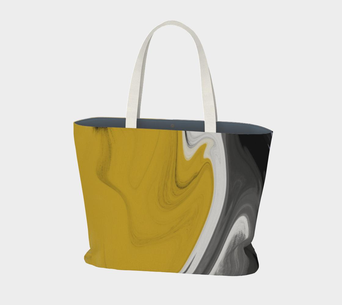 Liquid Black Gold Large Tote Bag preview #1
