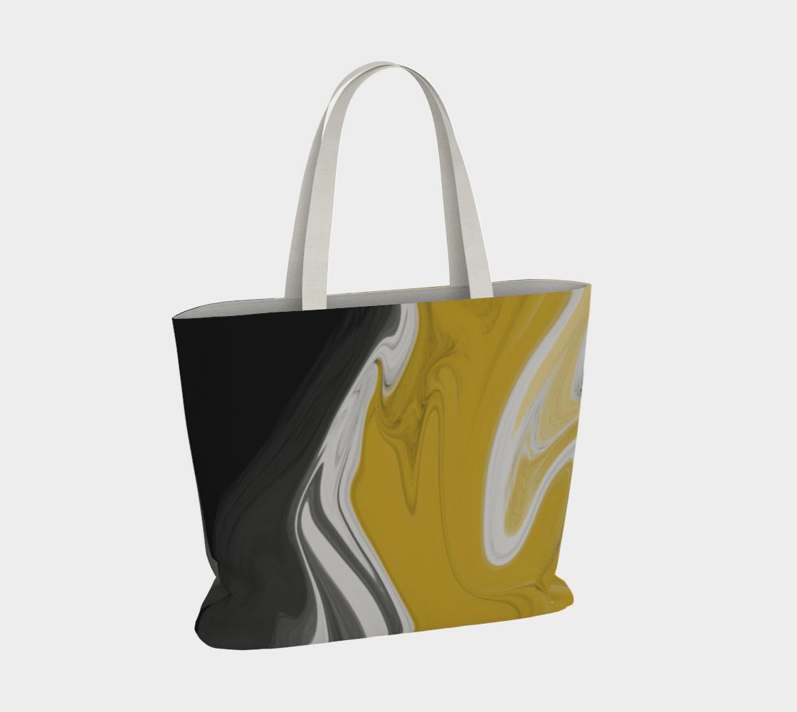 Liquid Black Gold Large Tote Bag preview #4