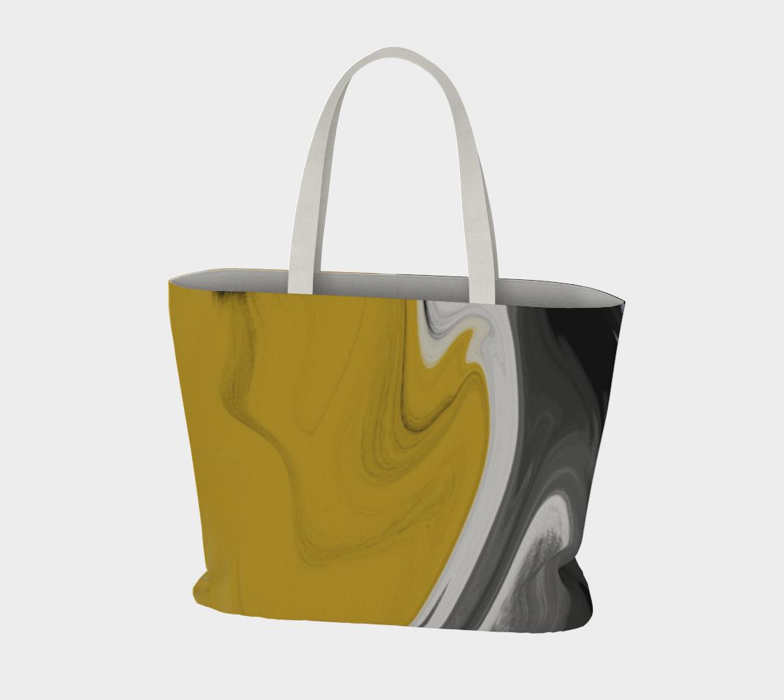 Liquid Black Gold Large Tote Bag preview #3