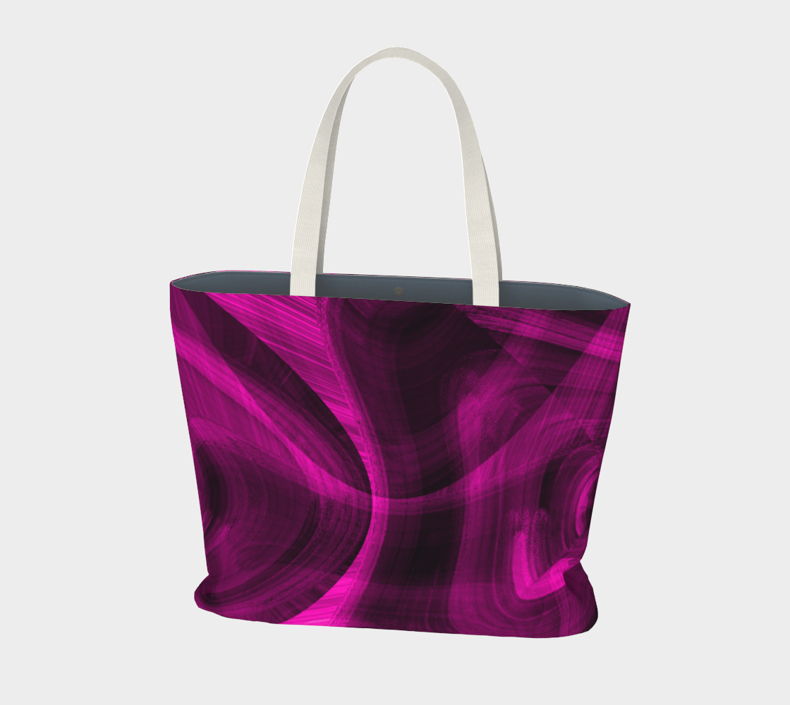 Pinkish Black Hole Large Tote Bag preview