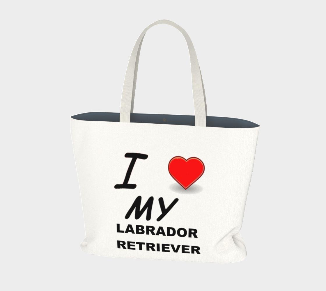 Labrador Retriever love large tote bag preview