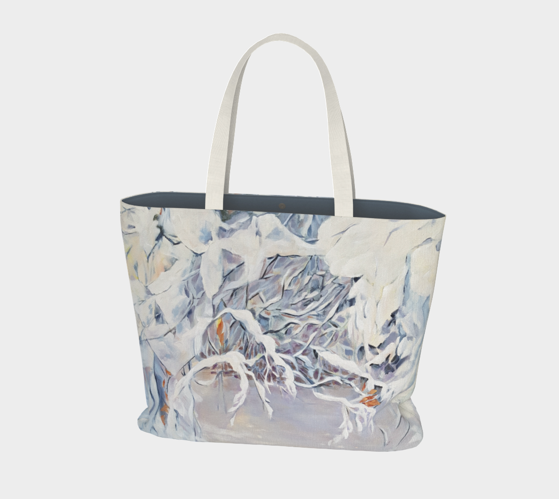 Snowy Boughs Large Tote Bag preview