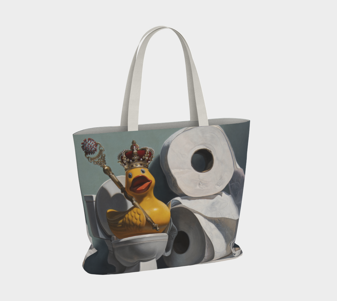 What the Duck Large Tote Bag preview #4