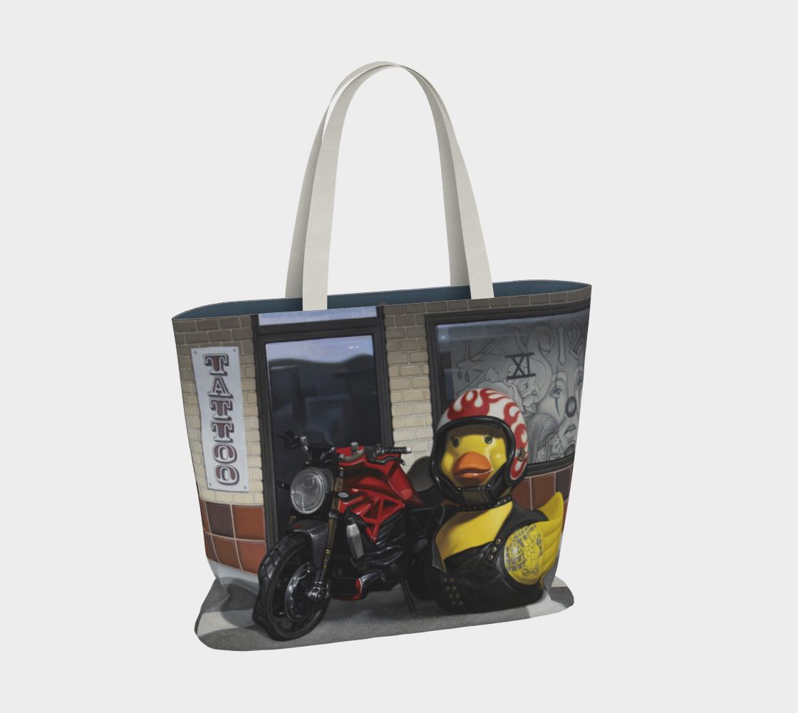 Biker Chick Large Tote Bag preview #2