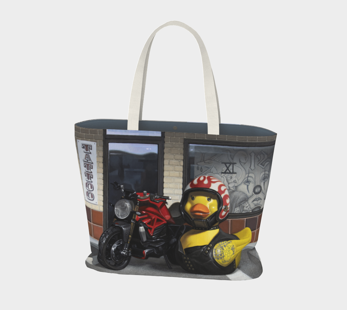 Biker Chick Large Tote Bag preview #1
