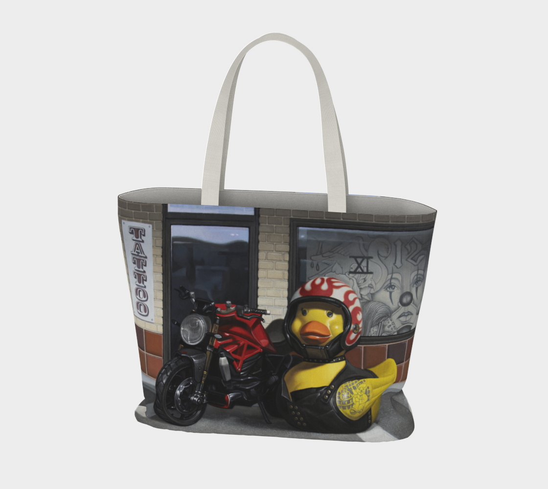 Biker Chick Large Tote Bag preview #3