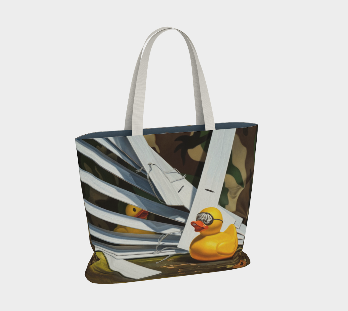 Duck Blind Large Tote Bag preview #2