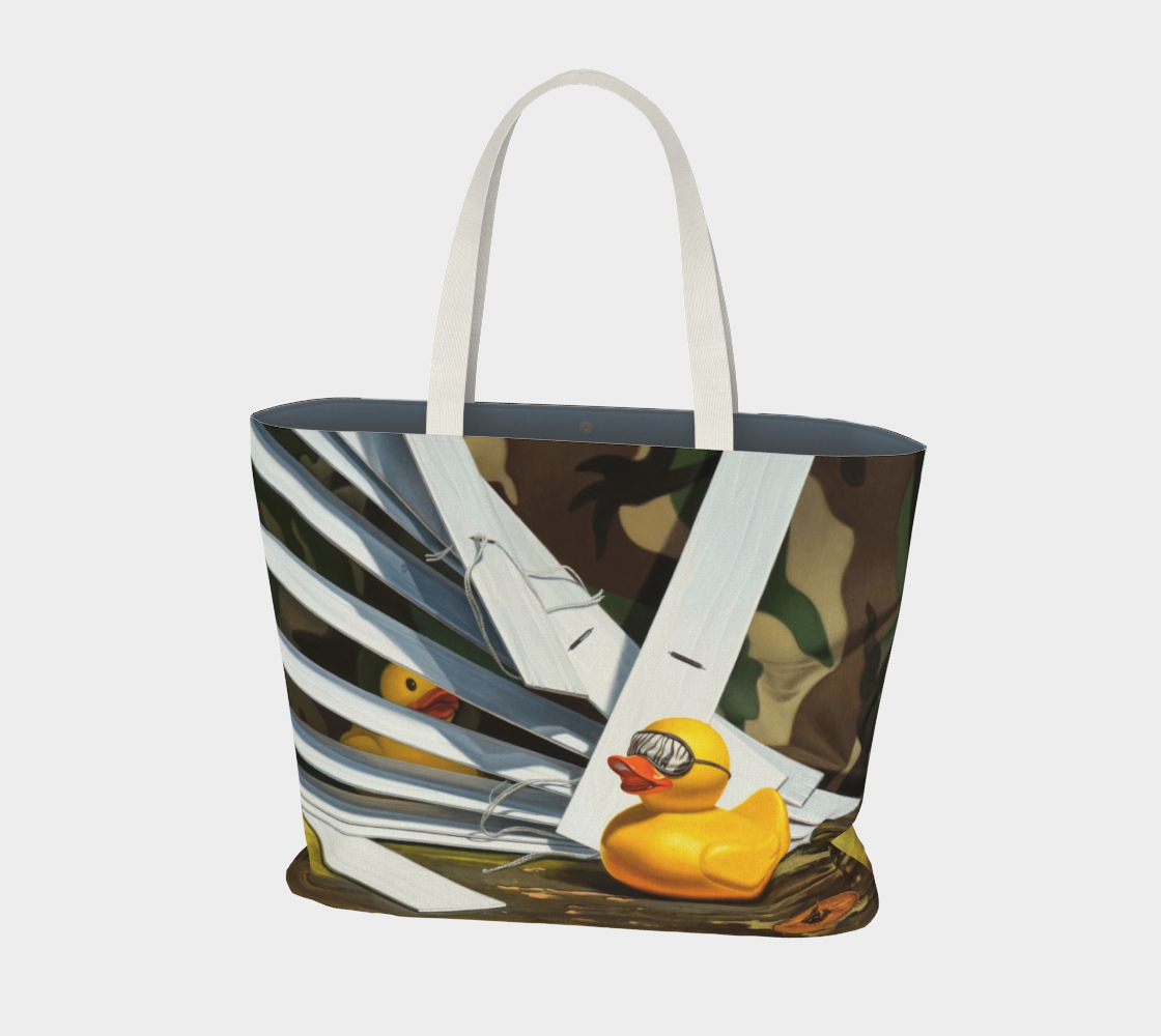 Duck Blind Large Tote Bag preview #1