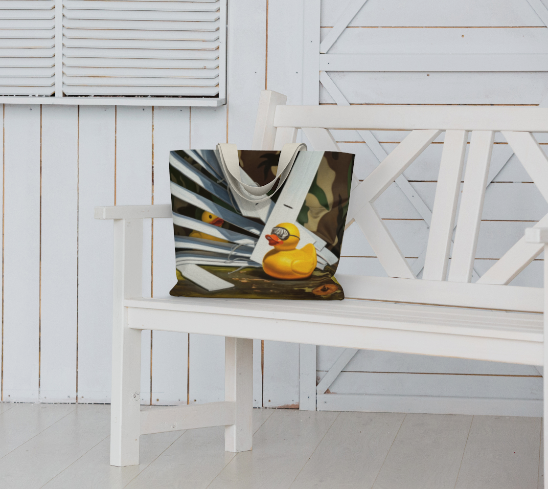 Duck Blind Large Tote Bag preview #6