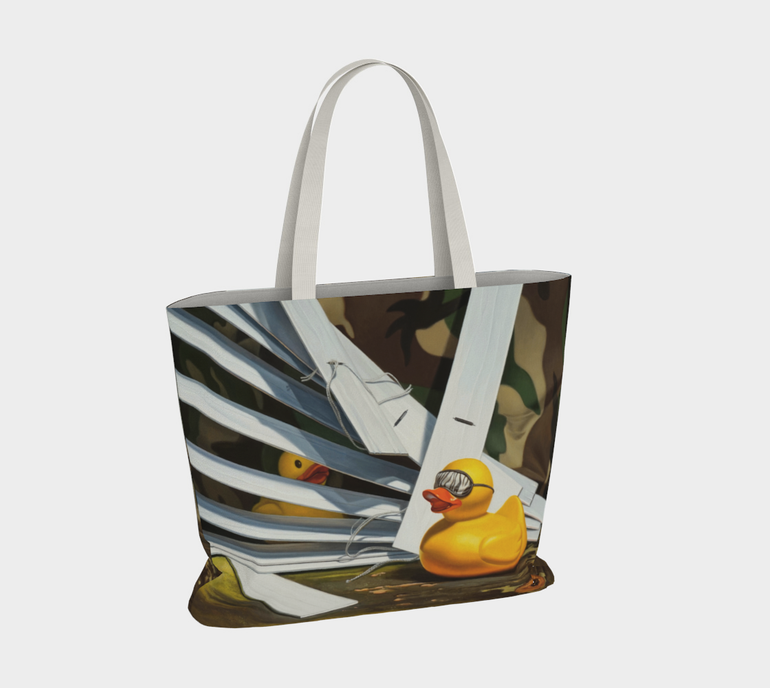 Duck Blind Large Tote Bag preview #4