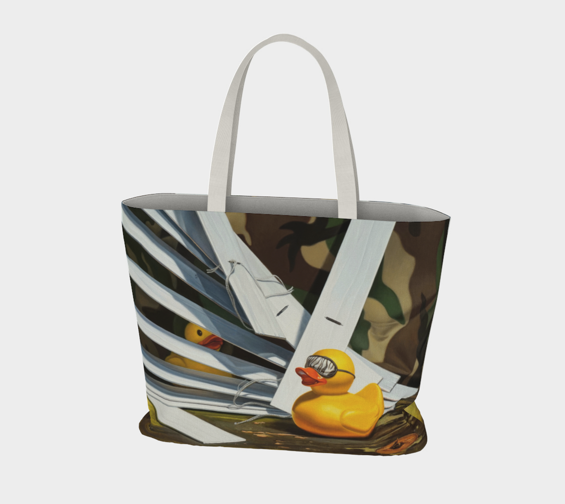 Duck Blind Large Tote Bag preview #3