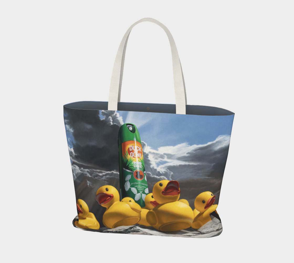 Duck Off Large Tote Bag preview #1