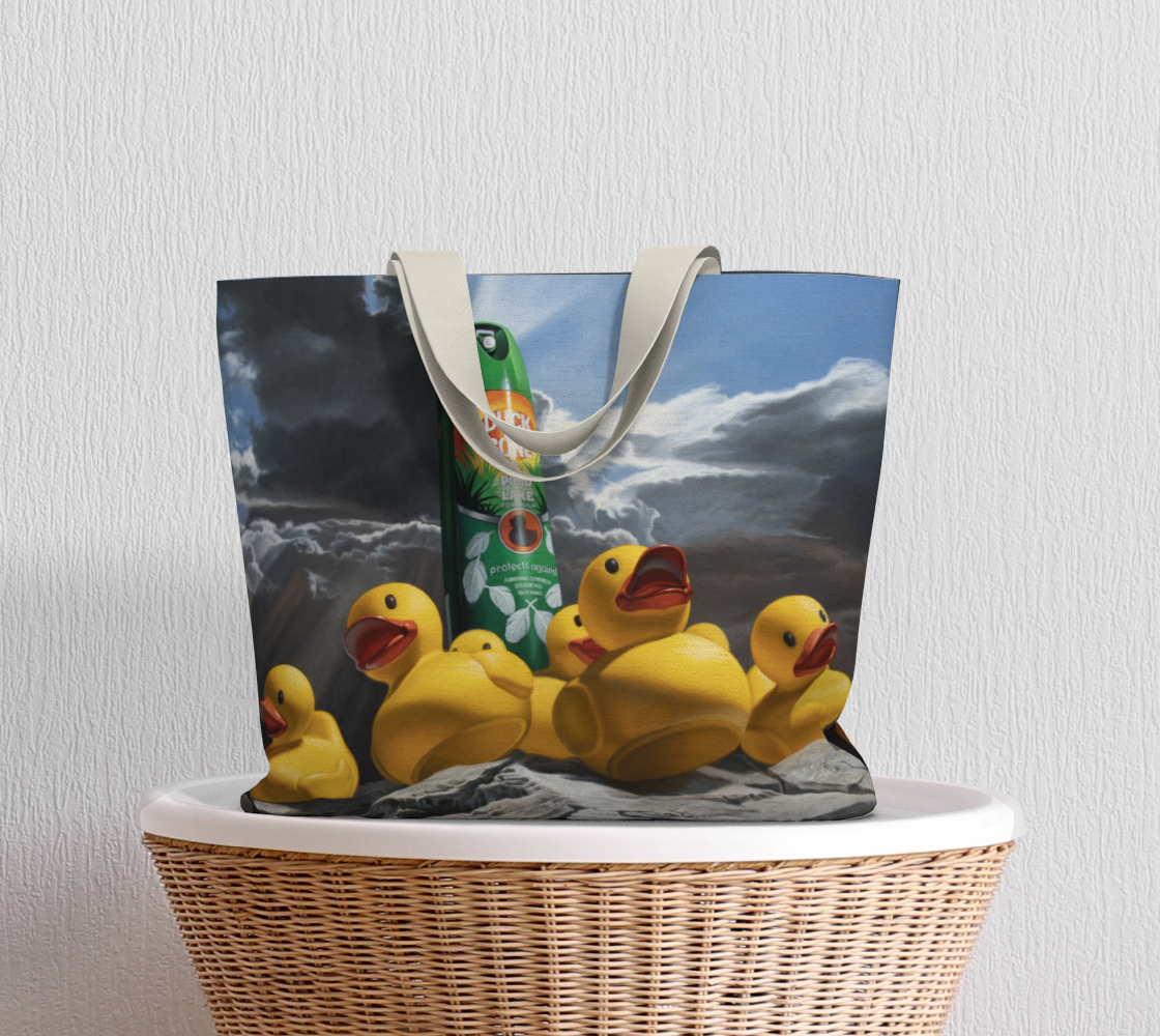 Duck Off Large Tote Bag preview #5