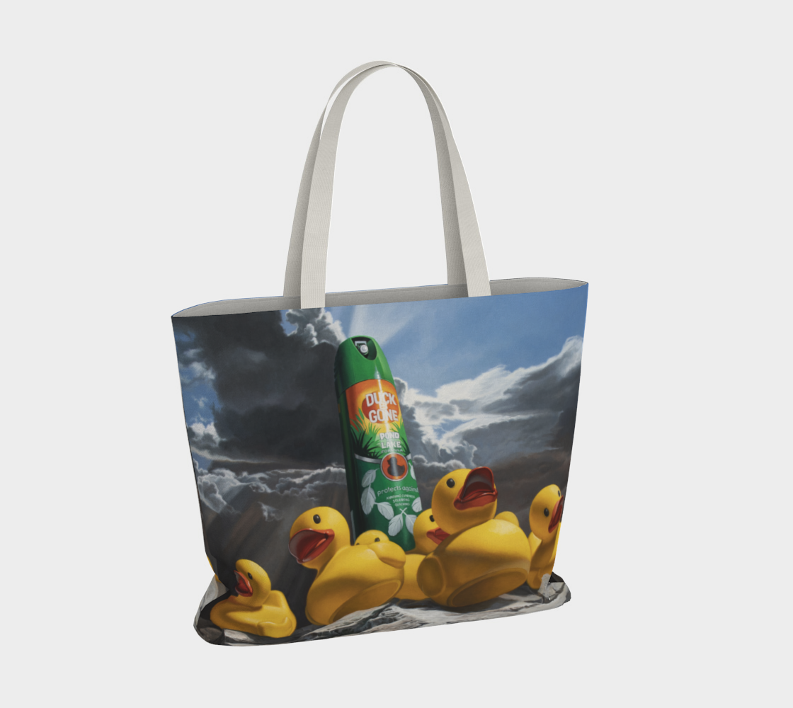 Duck Off Large Tote Bag preview #4