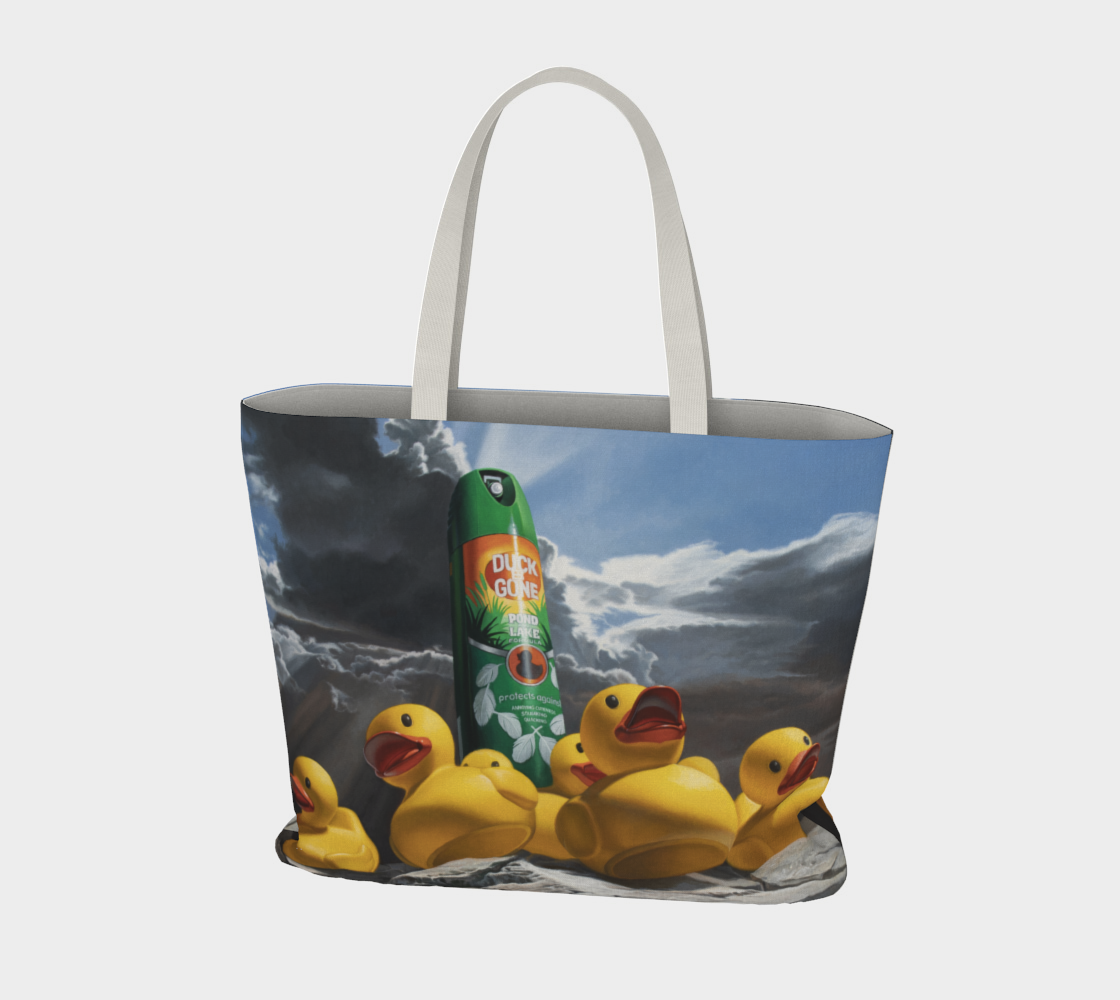 Duck Off Large Tote Bag preview #3