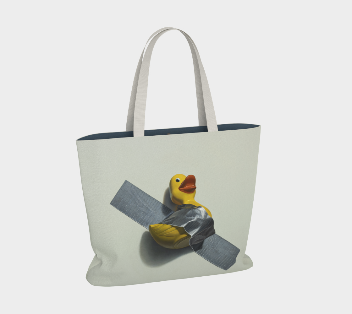 Duck Taped Large Tote Bag preview #2