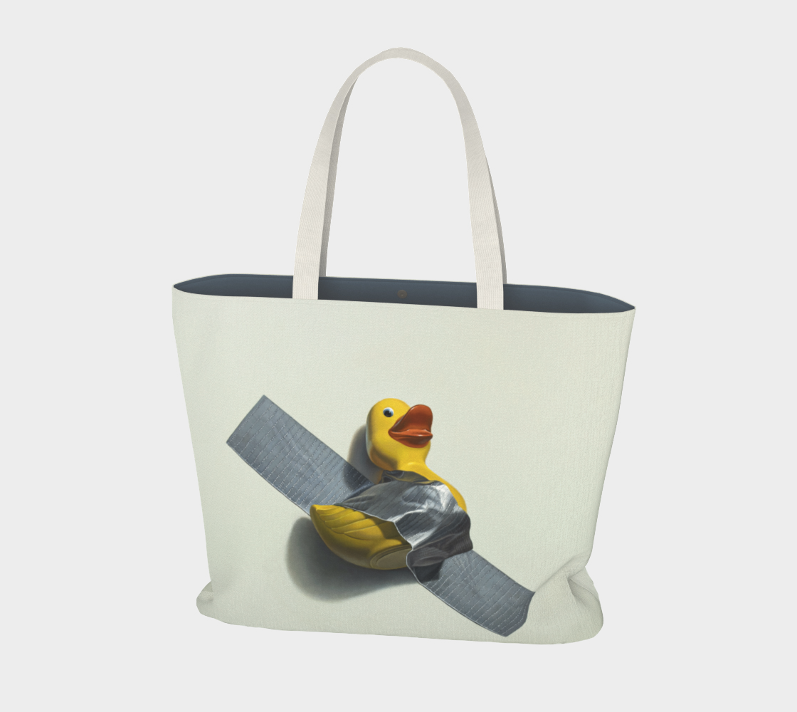 Duck Taped Large Tote Bag preview #1