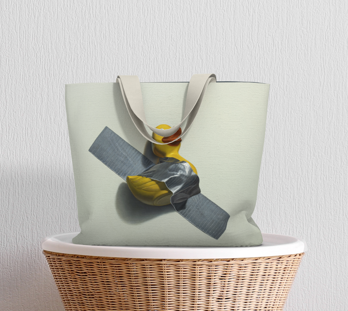 Duck Taped Large Tote Bag preview #5