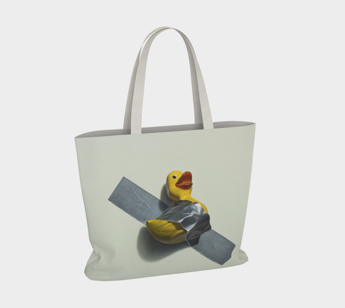 Duck Taped Large Tote Bag preview #4