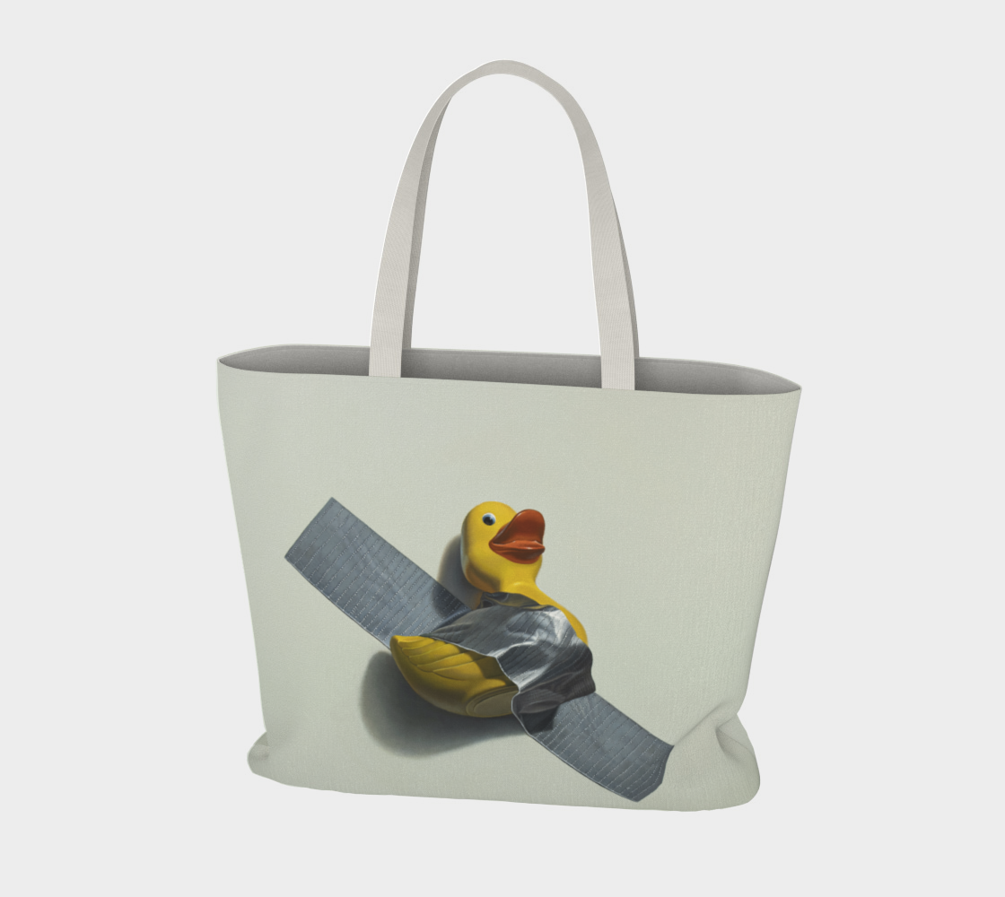 Duck Taped Large Tote Bag preview #3