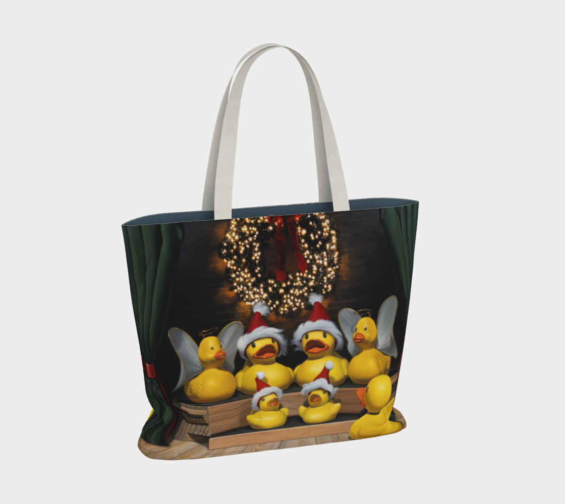 Duck the Halls Large Tote Bag preview #2