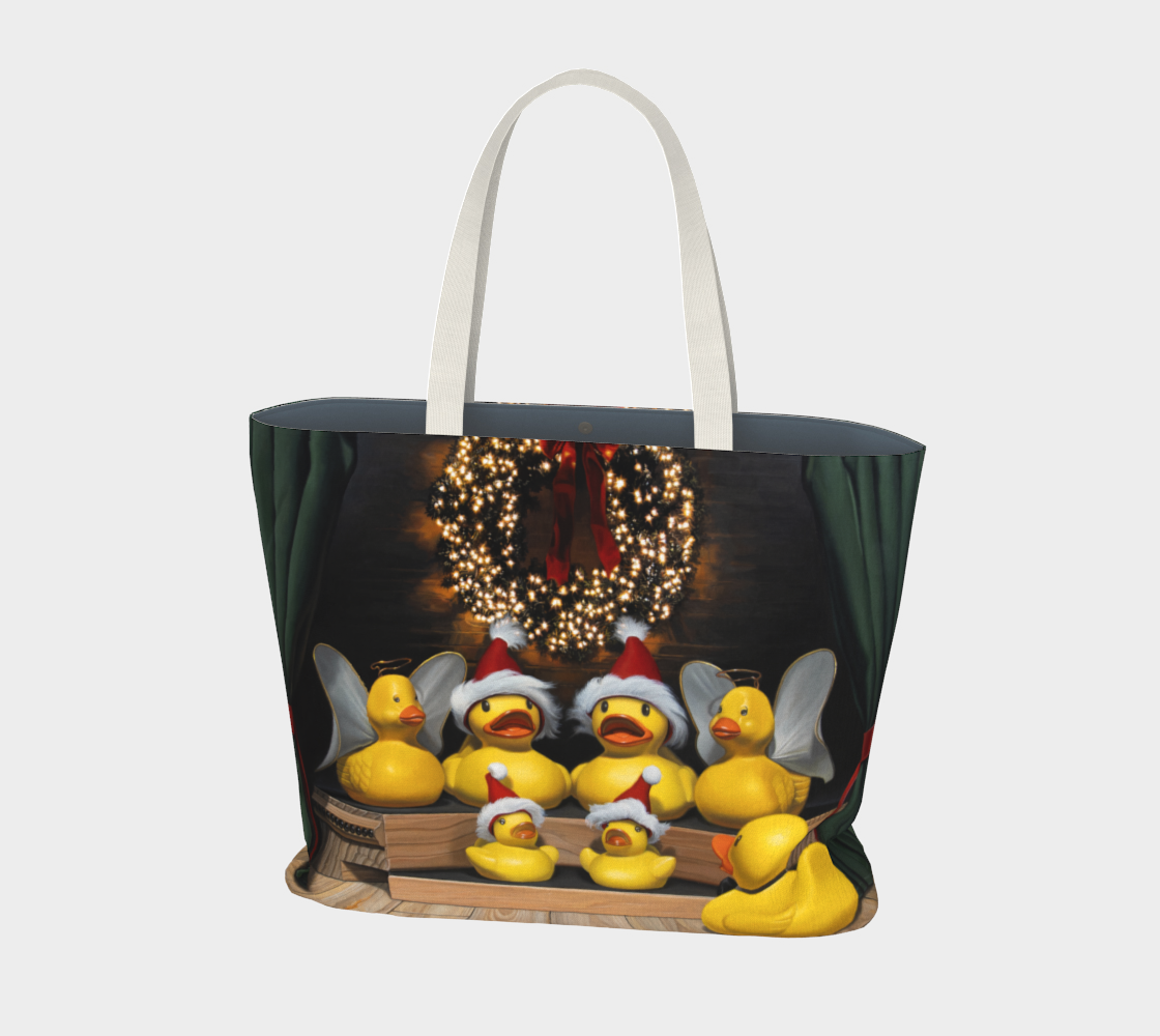 Duck the Halls Large Tote Bag preview #1