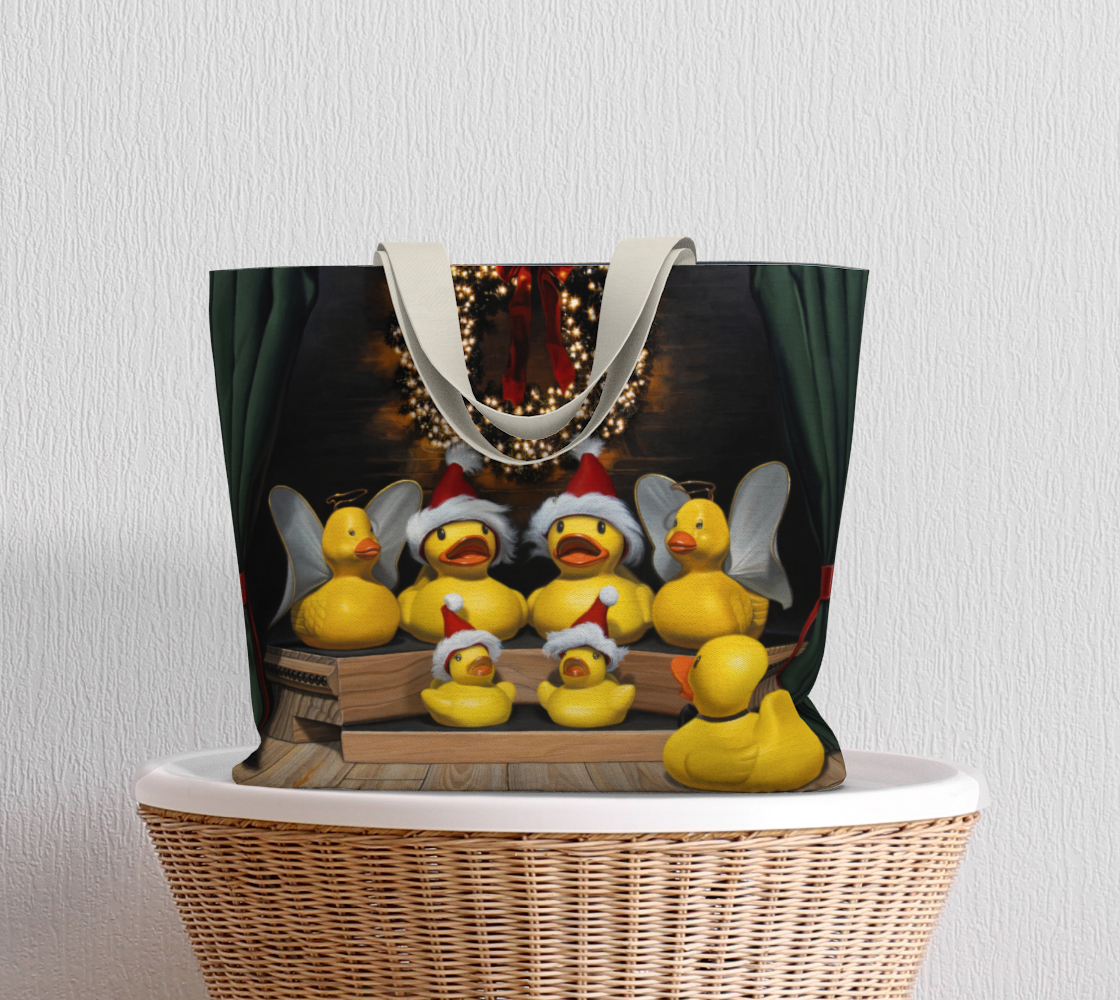 Duck the Halls Large Tote Bag preview #5