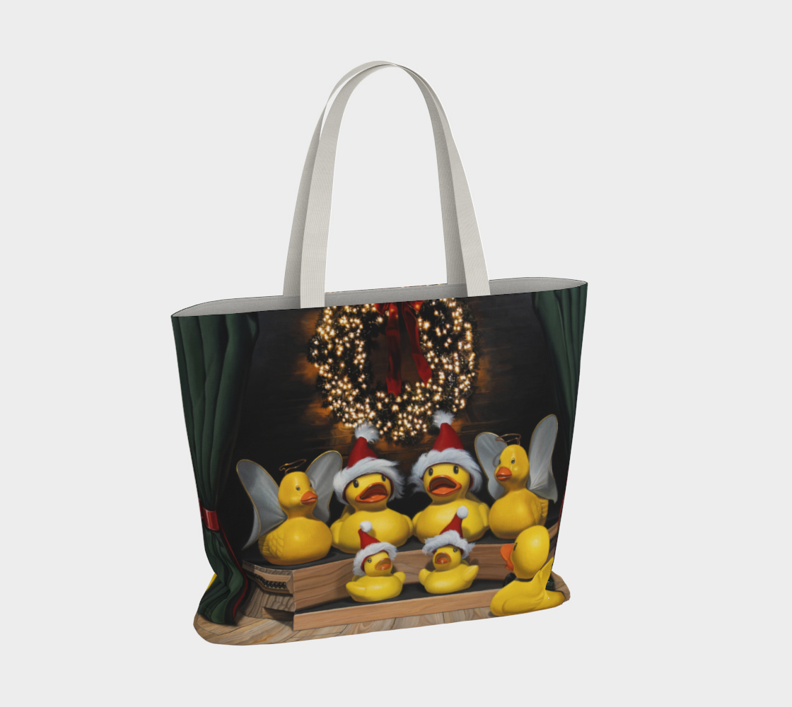 Duck the Halls Large Tote Bag preview #4