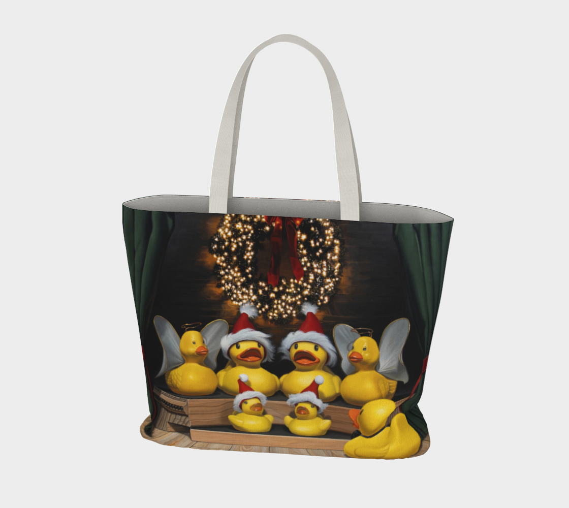 Duck the Halls Large Tote Bag preview #3