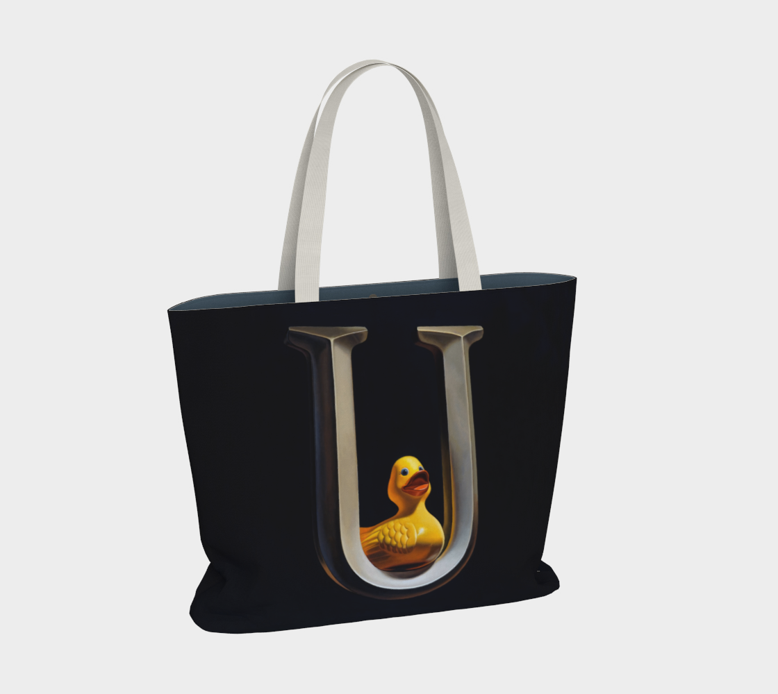 Duck U Large Tote Bag preview #2