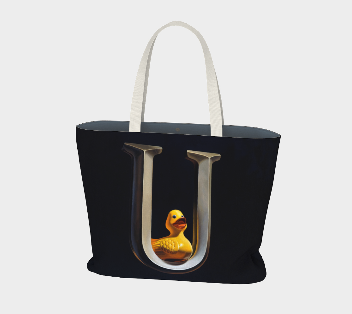 Duck U Large Tote Bag preview #1
