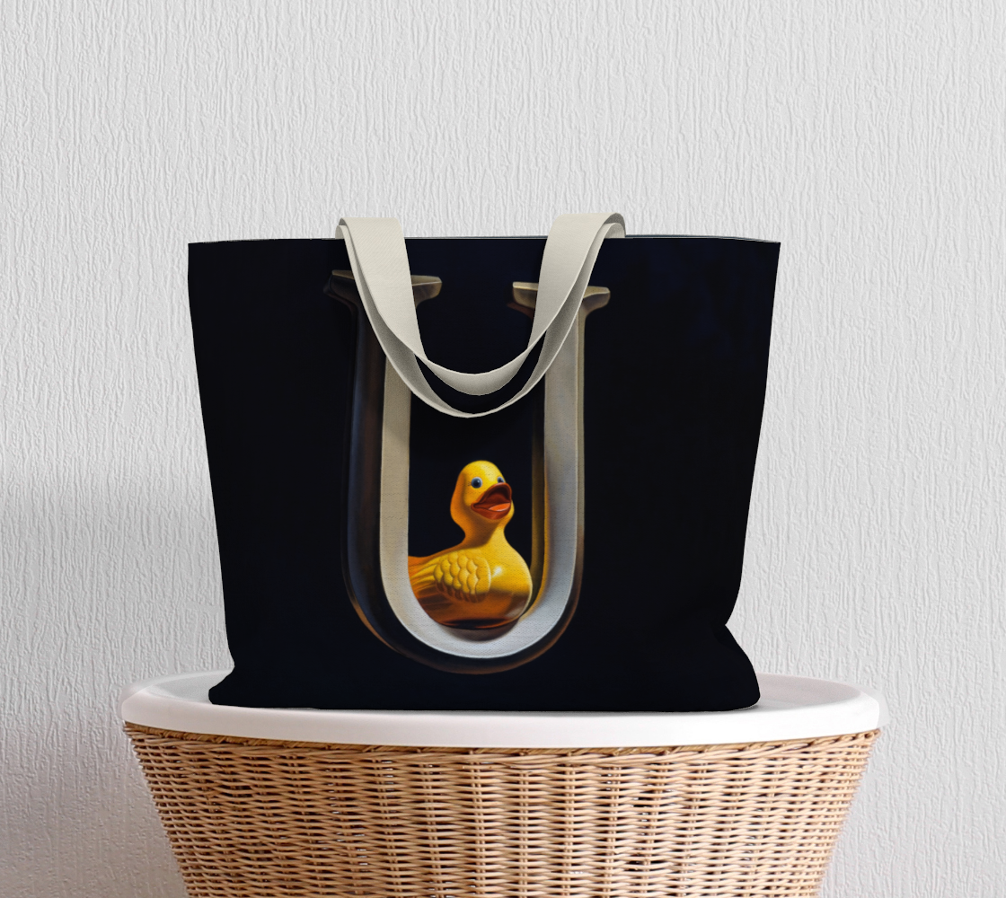 Duck U Large Tote Bag preview #5