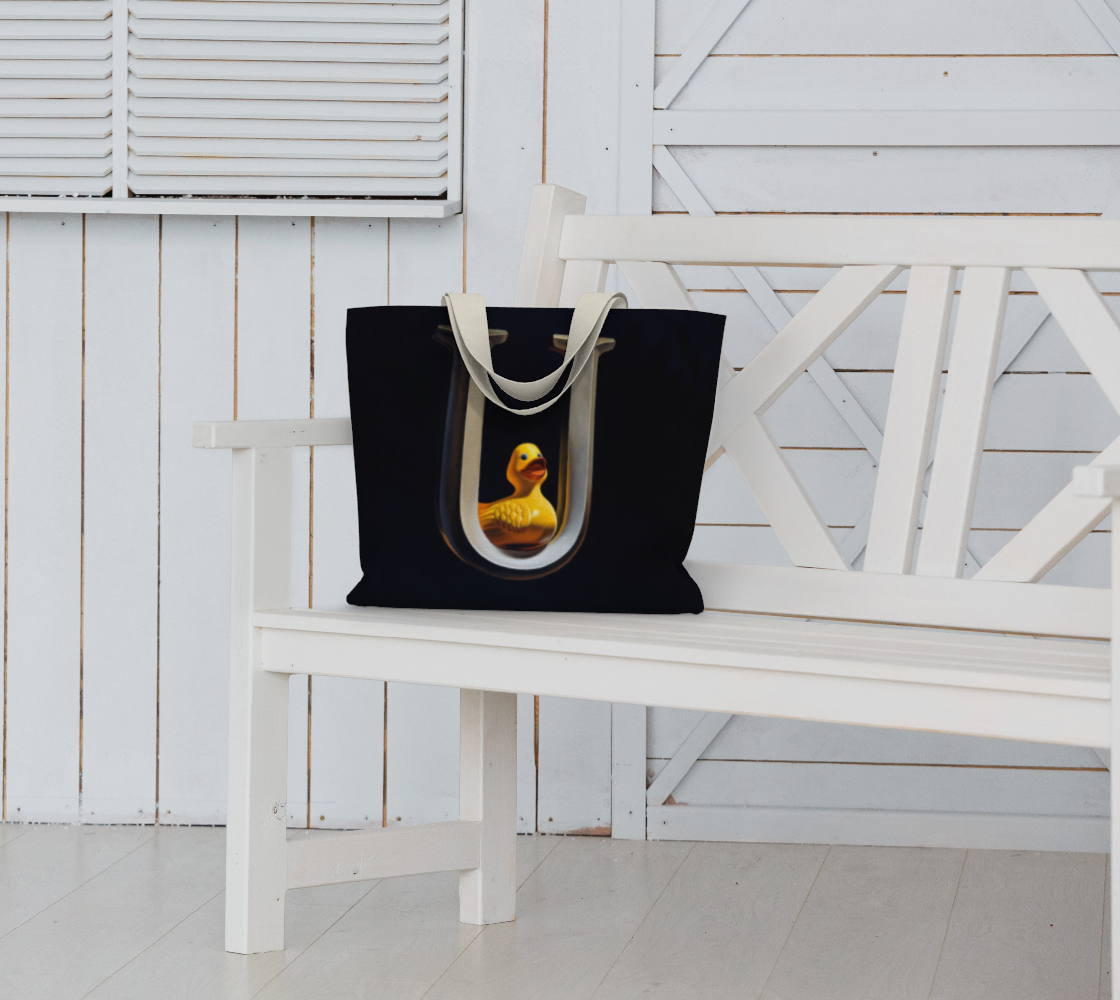 Duck U Large Tote Bag preview #6