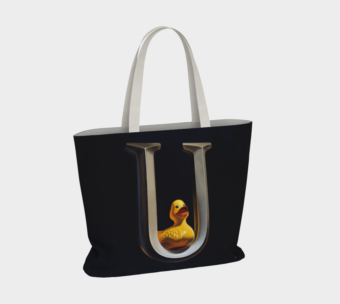 Duck U Large Tote Bag preview #4