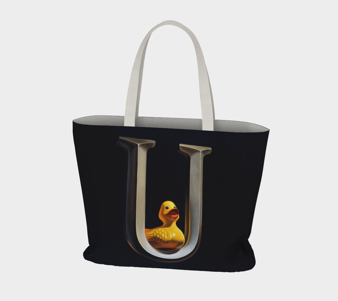 Duck U Large Tote Bag preview #3