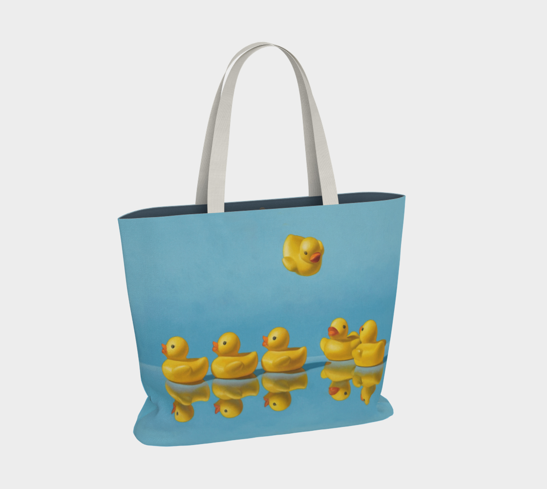 Ducks in a Row Large Tote Bag preview #2