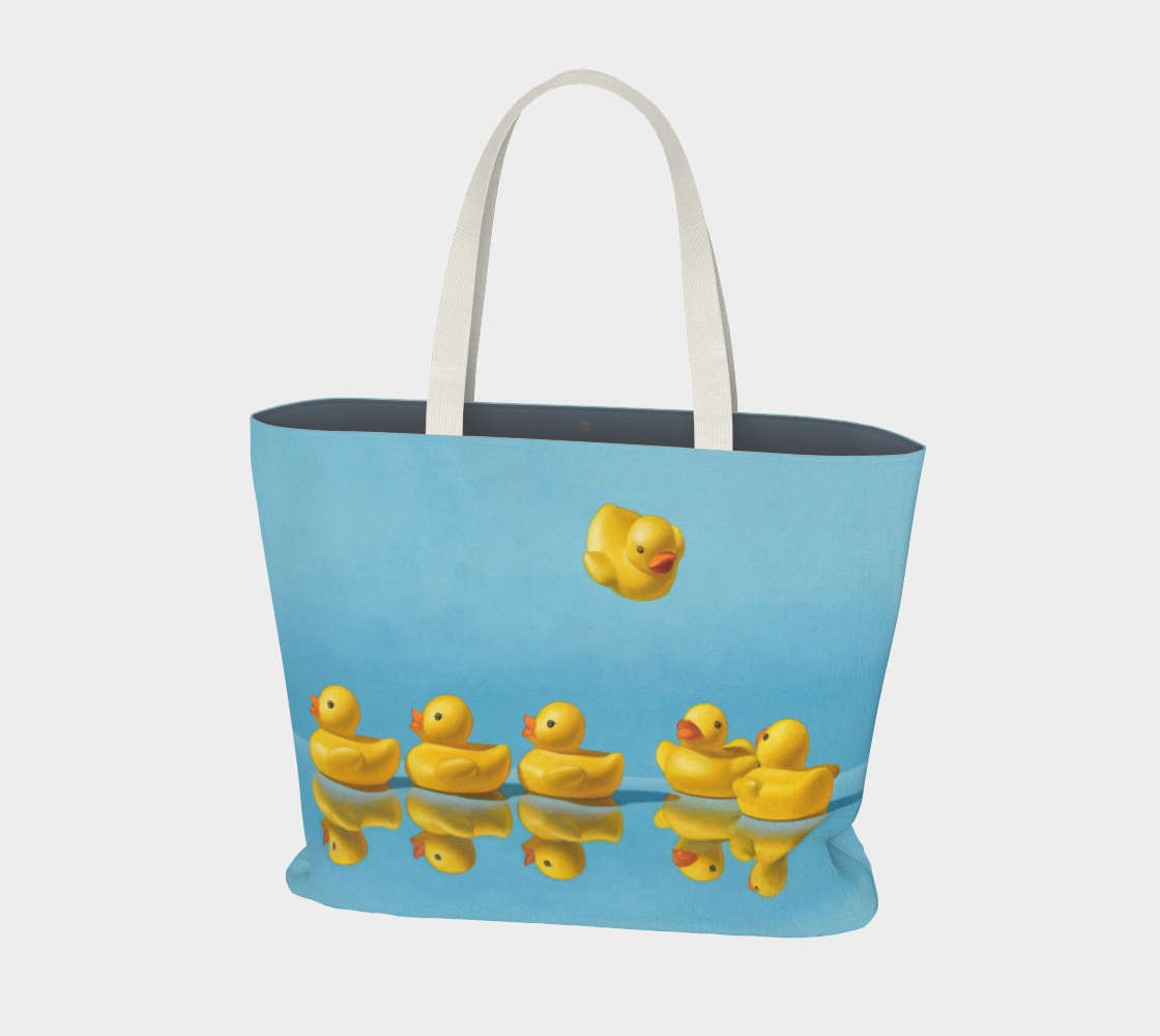 Ducks in a Row Large Tote Bag preview
