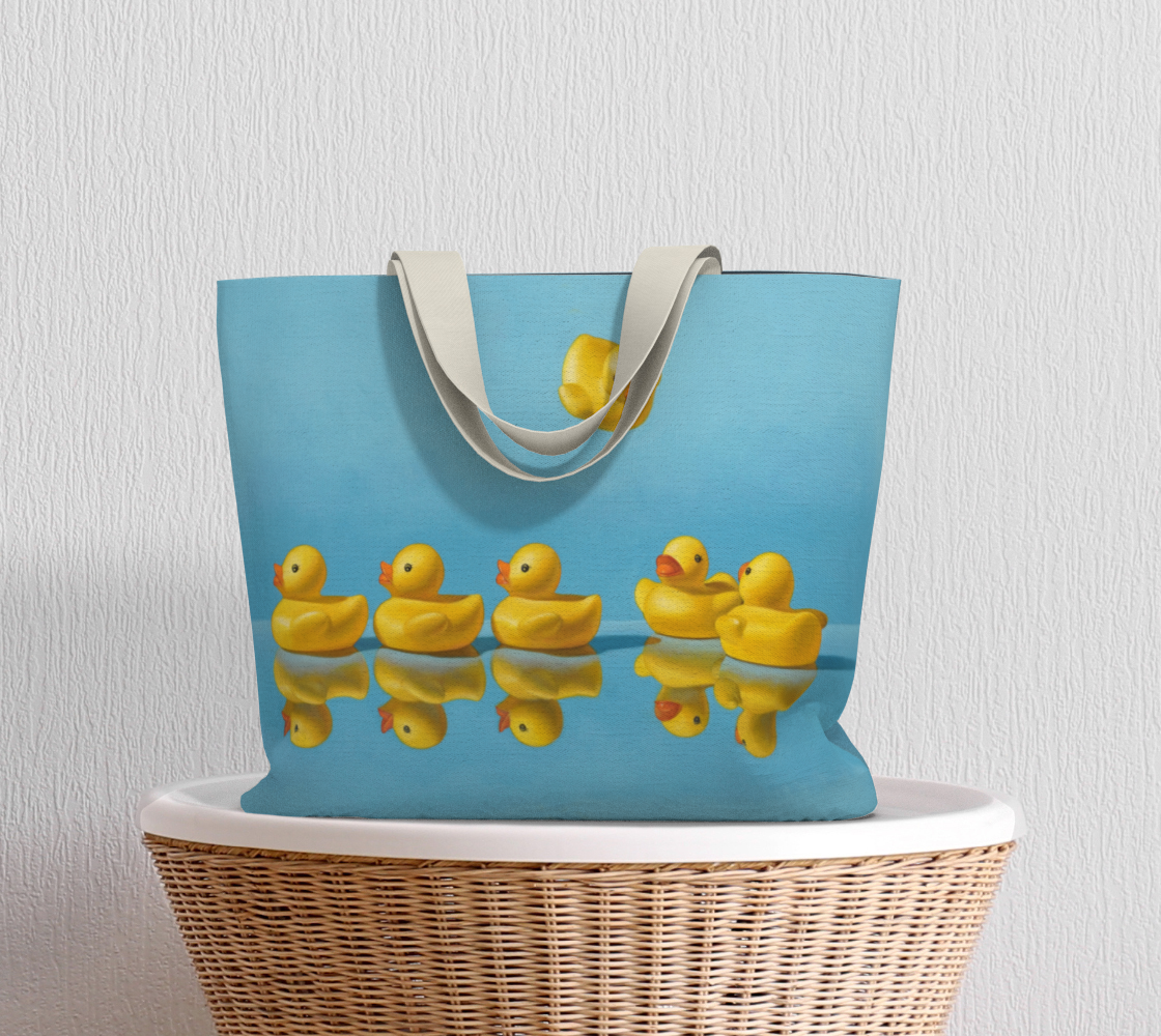 Ducks in a Row Large Tote Bag preview #5