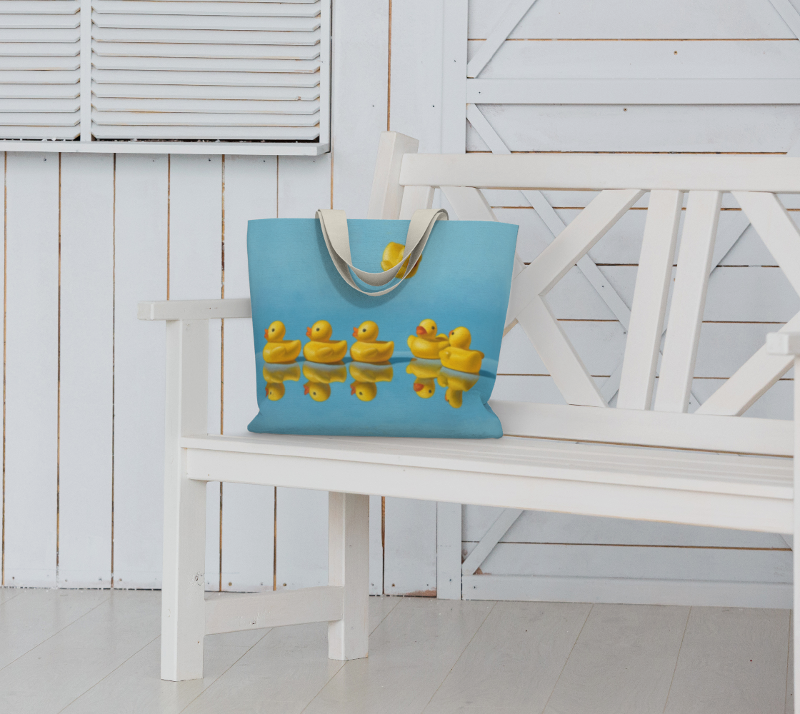 Ducks in a Row Large Tote Bag preview #6