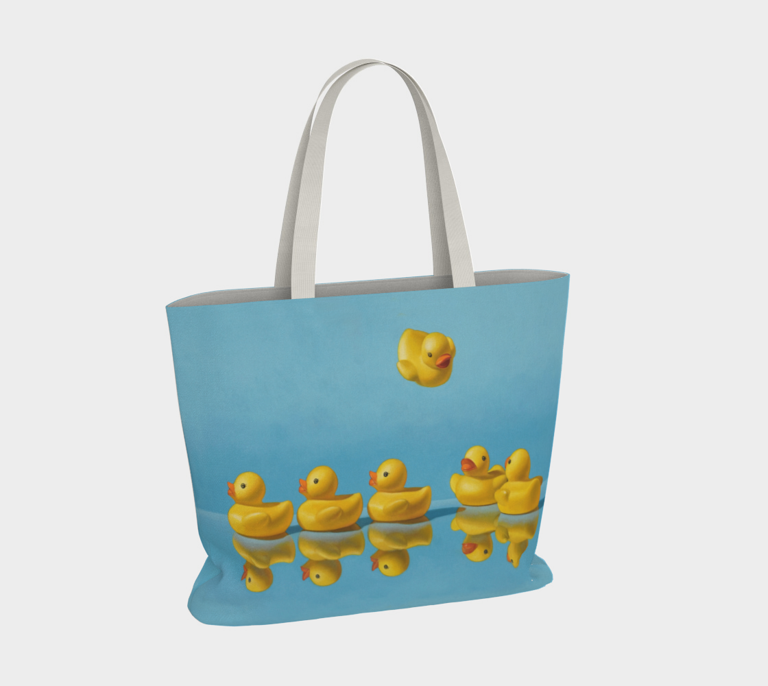 Ducks in a Row Large Tote Bag preview #4