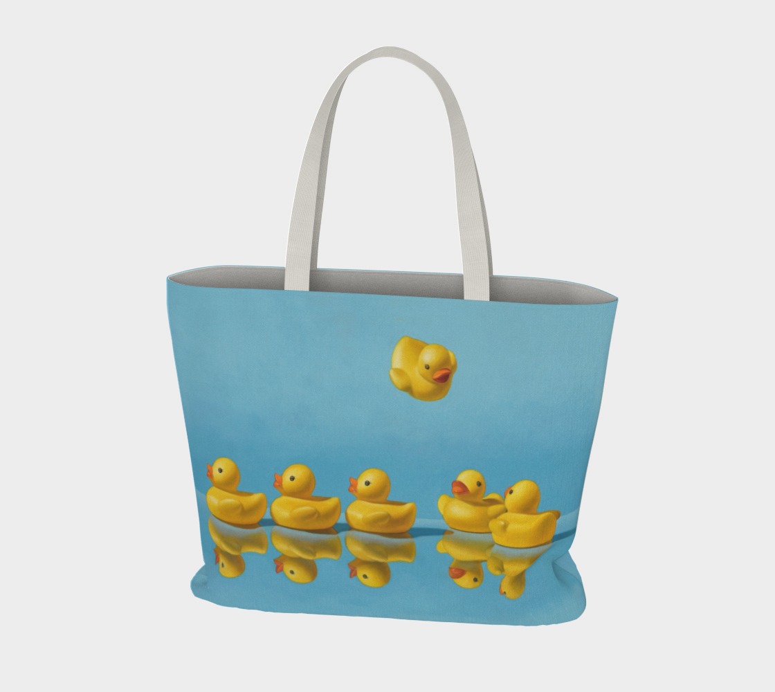 Ducks in a Row Large Tote Bag preview #3