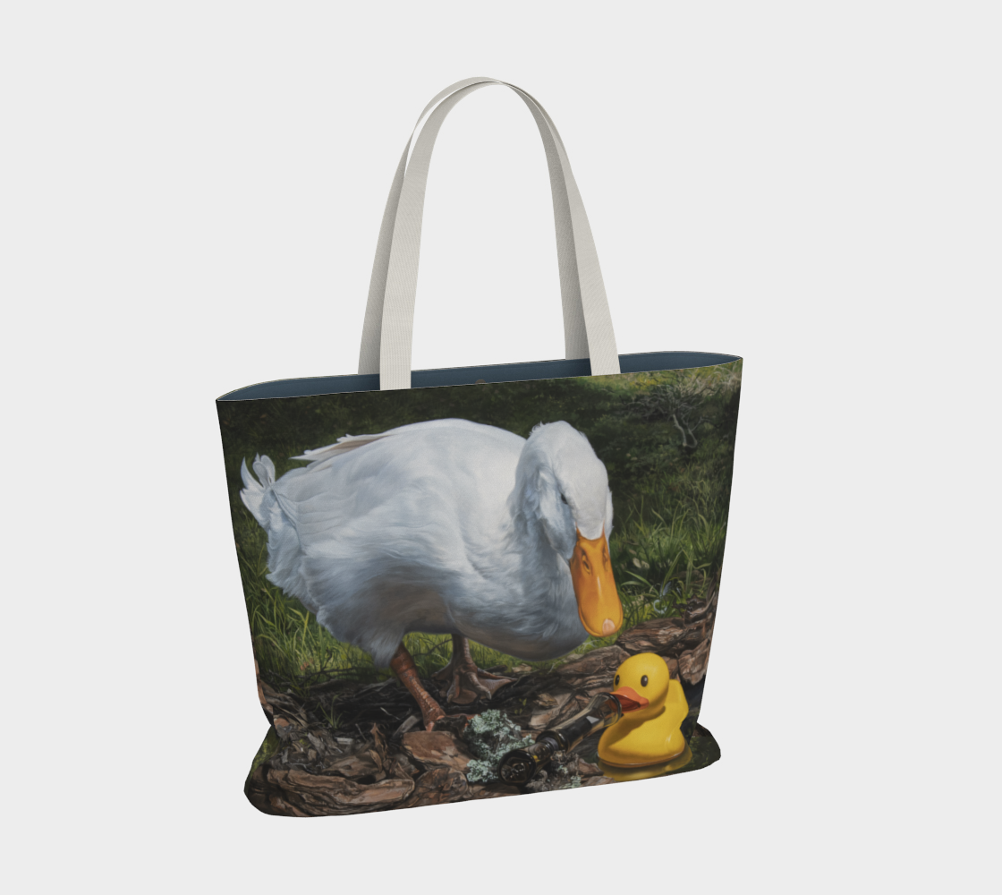 If It Looks Like a Duck Large Tote Bag preview #2